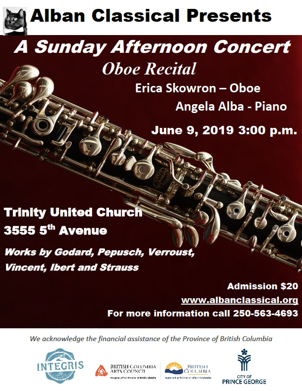 June 9 Oboe Recital